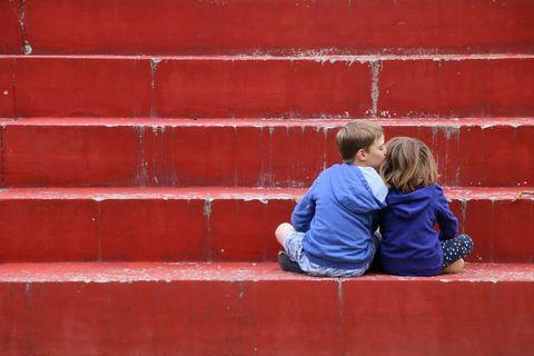 Blue, Red, Wall, Comfort, Maroon, Love, Brick, Back, Coquelicot, Hug,