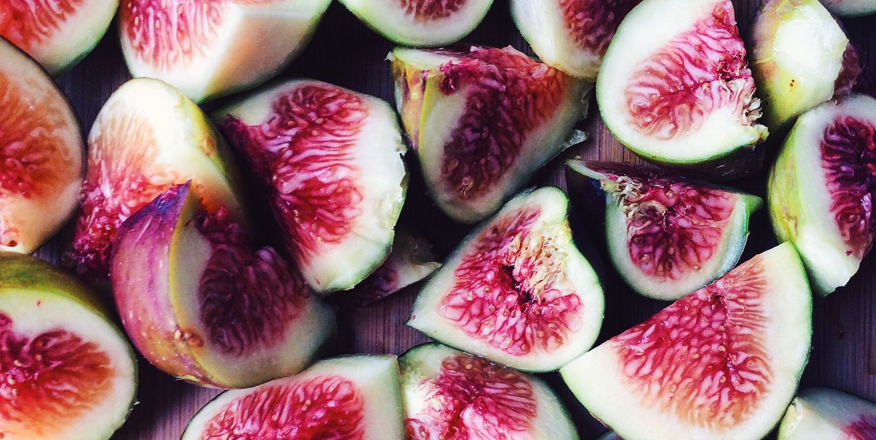 Full Frame Shot Of Fig Slice