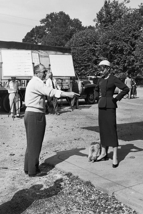 403109 07 file photo austrian born director billy wilder points to some luggage next to belgian born actress audrey hepburn on the set of the film sabrina in october 1953 wilder died at age 95 of pneumonia march 28, 2002 at his home in beverly hills, ca photo by getty images