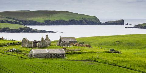Highland, Green, Natural landscape, Grass, Grassland, Hill, Raised beach, Fell, Coast, Loch,