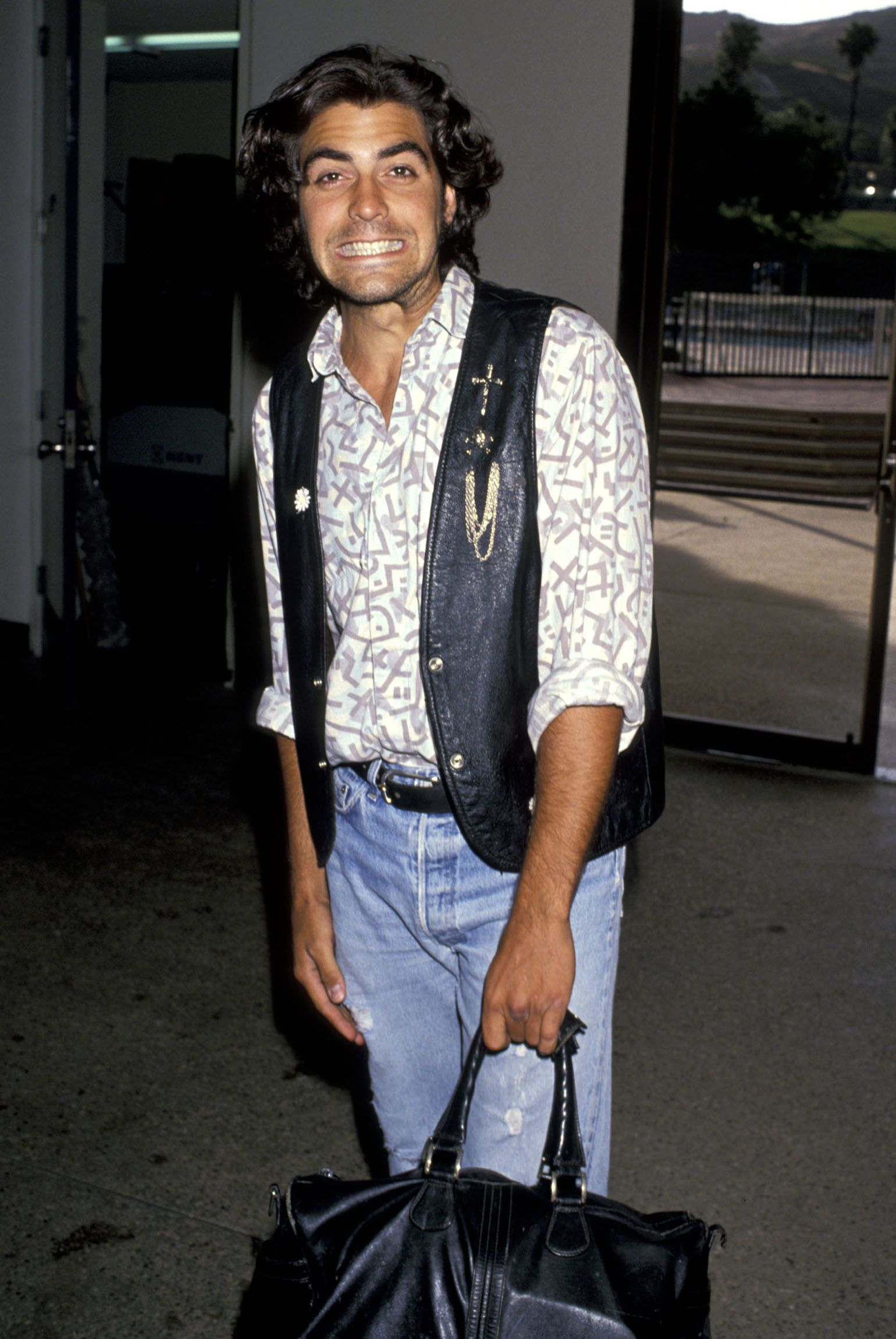 Clooney attending a celebrity basketball game on June 24, 1989 in Malibu, Ca.