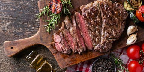 Food, Dish, Cuisine, Ingredient, Rib eye steak, Meat, Rack of lamb, Steak, Flat iron steak, Produce,