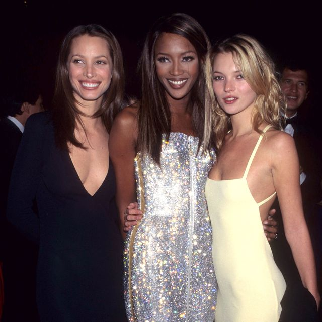 christy turlington, naomi campbell and kate moss photo by kevin mazur archivewireimage