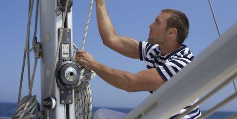 camiseta marinero hombre, camiseta rayas