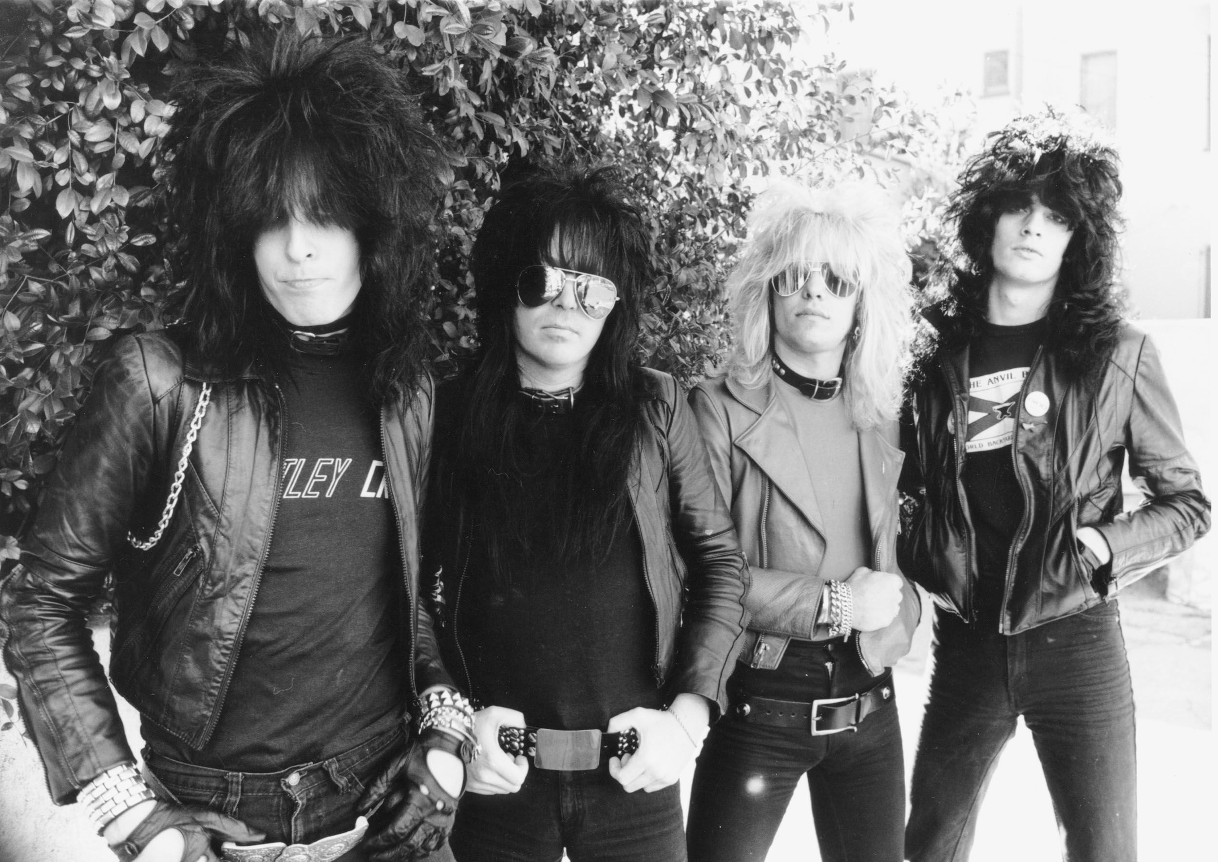 Mötley Crüe photographed in Los Angeles in 1981.