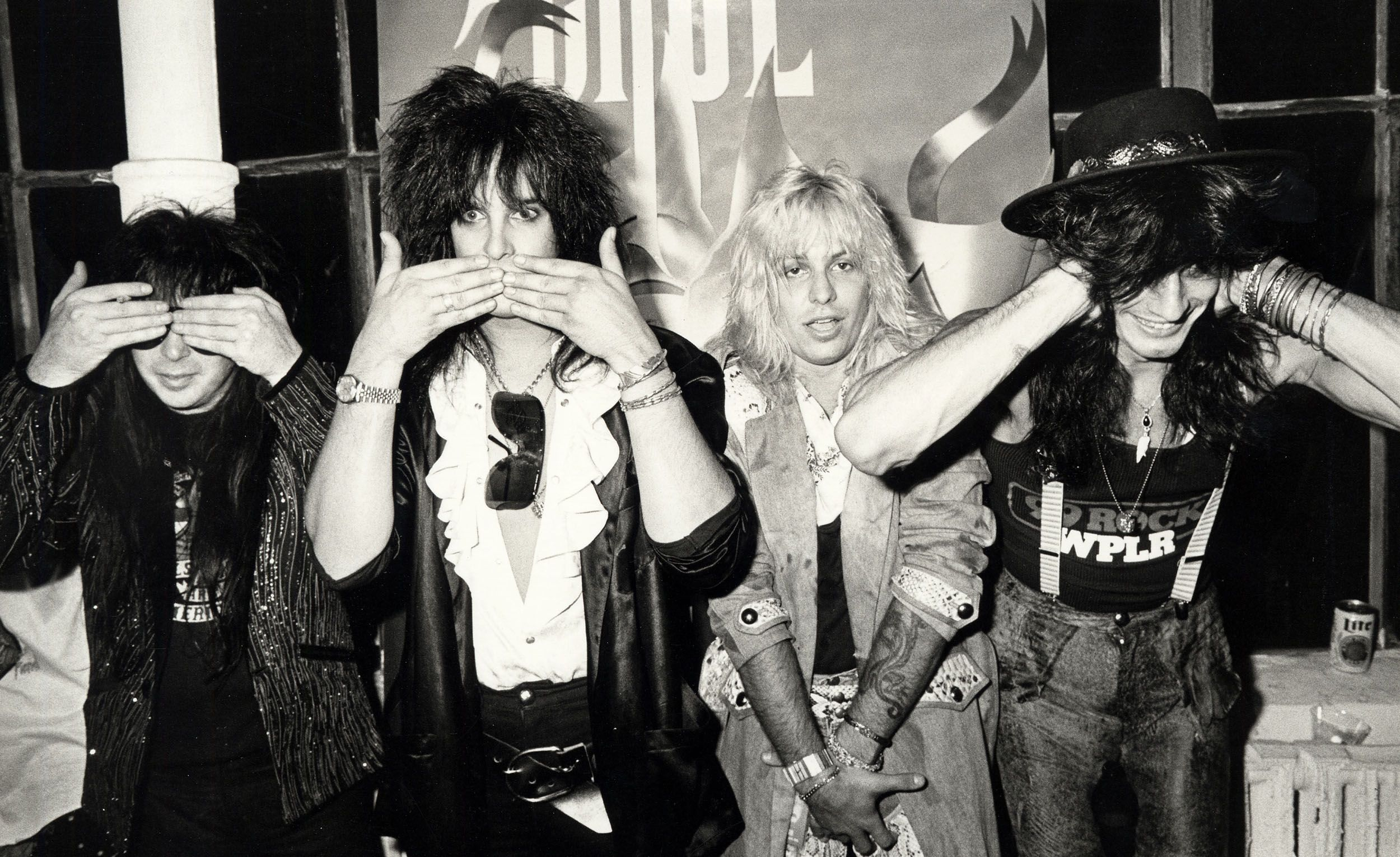 Mötley Crüe After Concert Party in NYC on August 14, 1985.