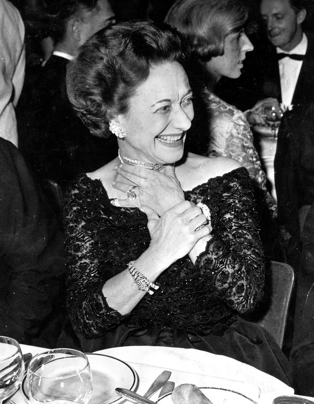 11th december 1959, the duchess of windsor formerly miss wallis simpson at the party which marked the gala opening of the new lido revue in paris with the duke also  photo by popperfoto via getty imagesgetty images