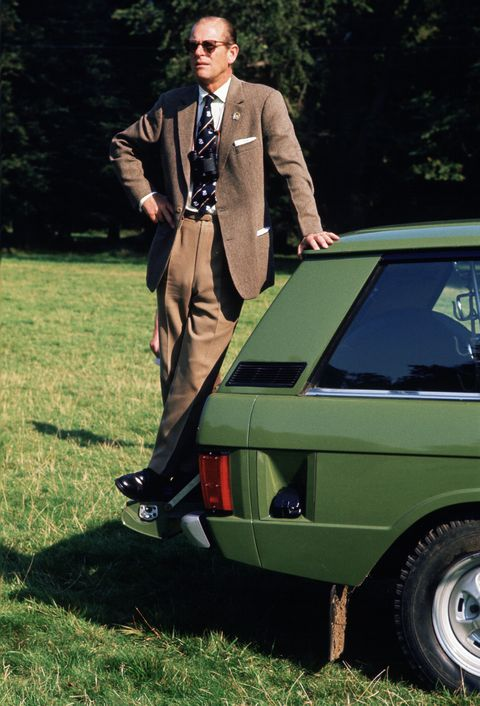 great britain   may 01  prince philip, duke of edinburgh, standing on his range rover car at the royal windsor horse show  photo by tim graham photo library via getty images