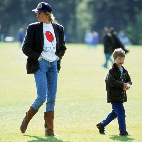 Prince William with his mother Diana, Princess of Wales at G
