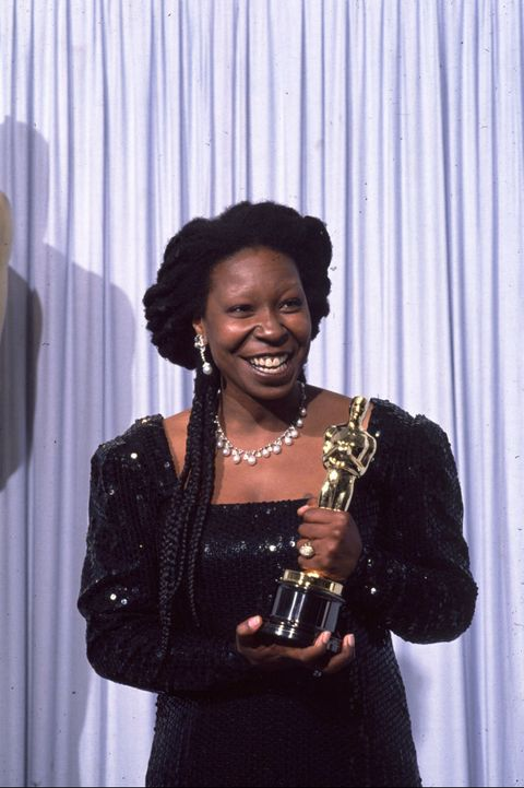 Whoopi Goldberg Receives an Oscar