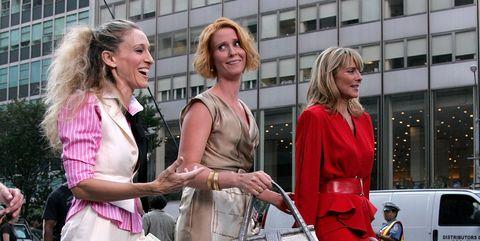 Street fashion, Fashion, Pink, Dress, Blond, High heels, Event, Pedestrian, Infrastructure, Street,
