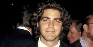 george clooney hair