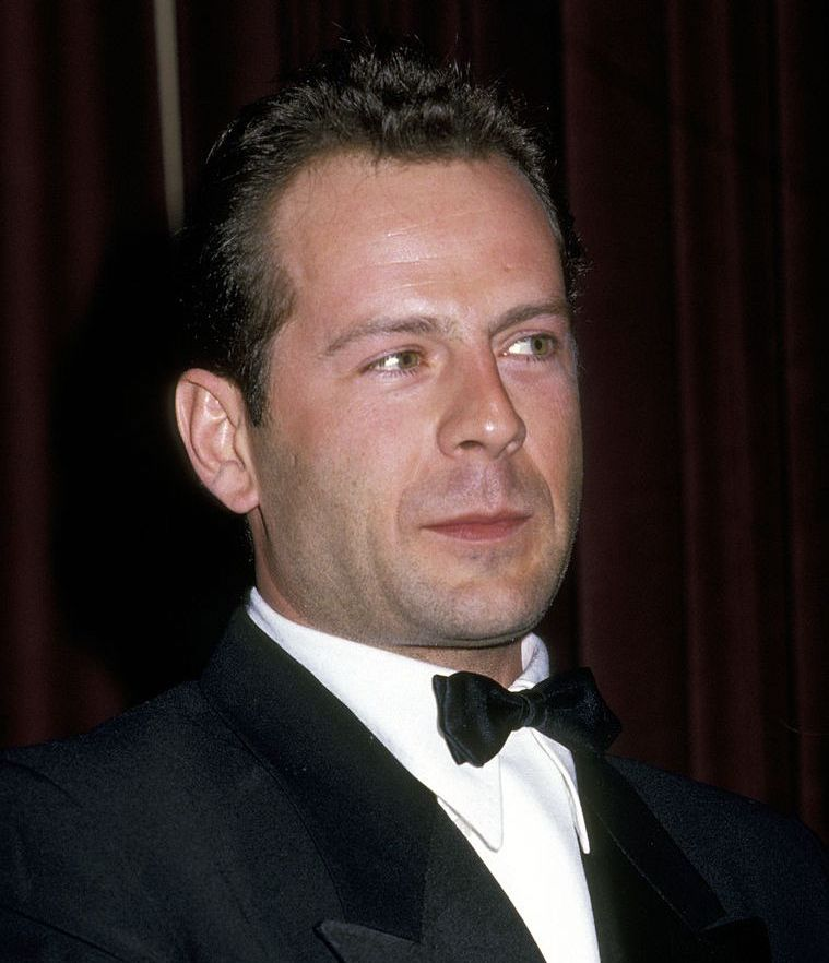 Bruce Willis (head of hair) This is Willis in 1987 .