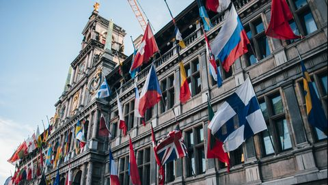 Vlaggen in Antwerpen