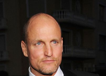 """Woody Harrelson (head that's bare) One does not simply hunt zombies or genetically-modified """"monkeys"""" with a full head of hair."""