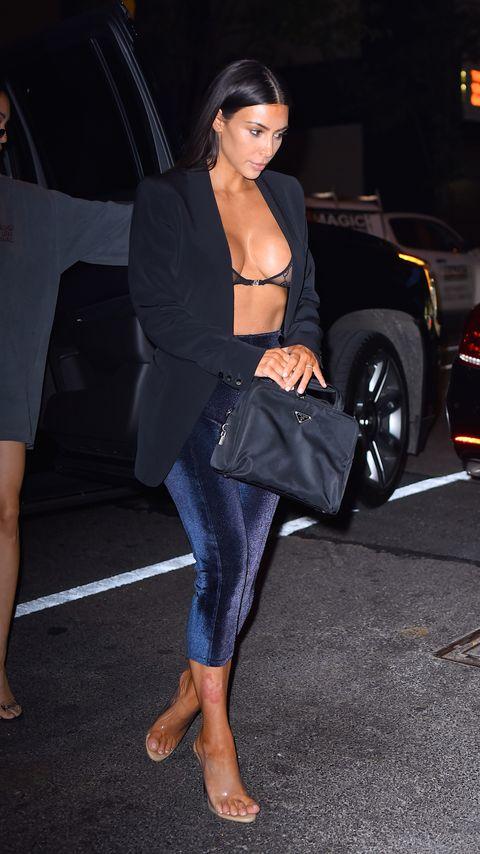7868abdaf9768 Kim Kardashian wore a sheer Gucci bra and leggings. Nailed it.