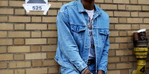 Denim, Clothing, Jeans, Textile, Pocket, Sleeve, Street fashion, Outerwear, Shirt, Fashion,