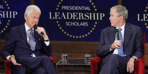 George Bush and Bill Clinton