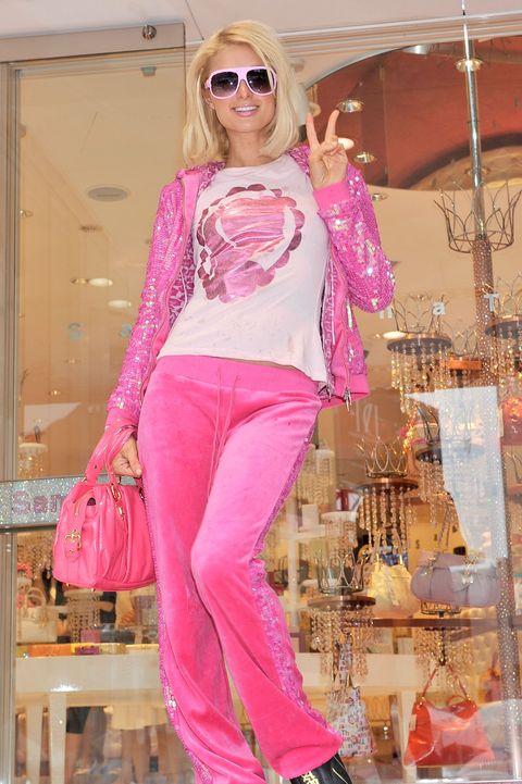 Clothing, Pink, Fashion model, Fashion, Jeans, Magenta, Peach, Footwear, Trousers, Fashion design,
