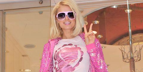 Paris Hilton Visits Samantha Thavasa Omotesando Gates Store