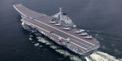 Liaoning aircraft carrier.