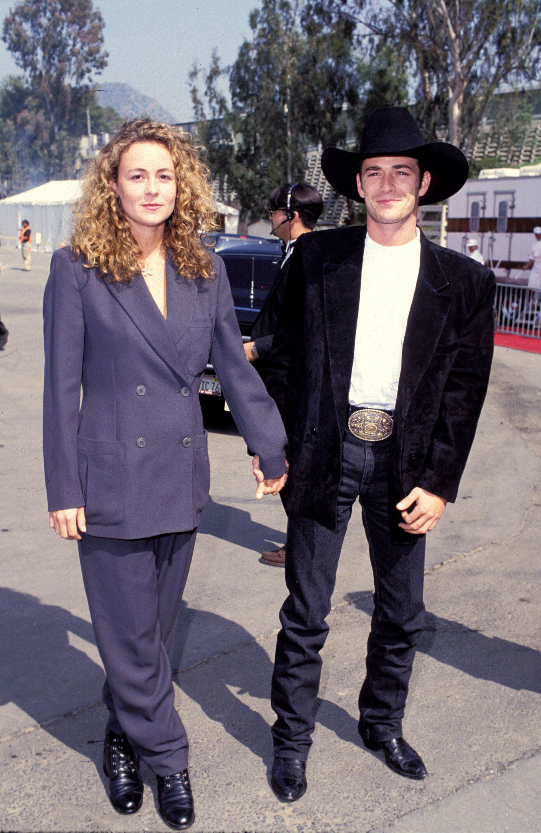 Minnie Sharp and Perry attending the 29th Annual Academy of Country Music Awards in 1991.
