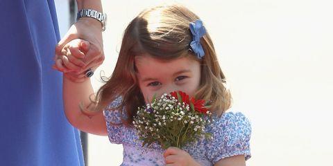 Blue, Child, Fun, Hand, Flower, Plant, Bouquet, Smile, Floral design,