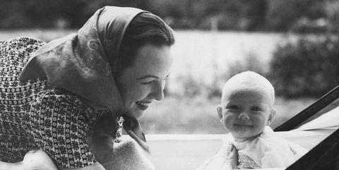 Photograph, Snapshot, Black-and-white, Photography, Stock photography, Monochrome photography, Child, Grandparent, Monochrome, Smile,