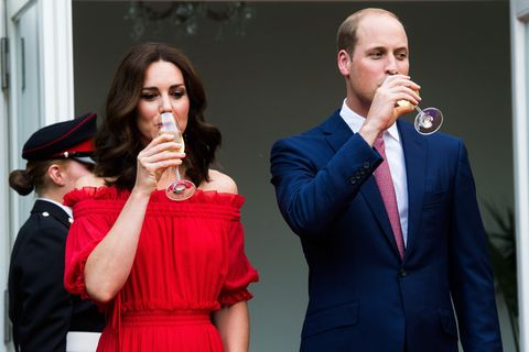 Prince William and Kate Middleton party   ELLE UK