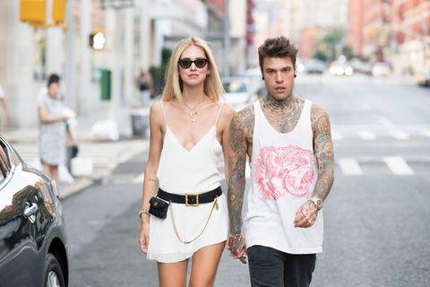 White, Street fashion, Photograph, Fashion, Shoulder, Clothing, Eyewear, Snapshot, Beauty, Dress,