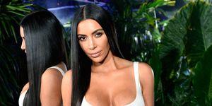 Kim Kardashian mirror long hair