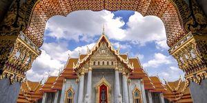 Beautiful Thai Temple, Wat Benjamaborphit, temple in Bangkok, Thailand