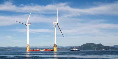 Wind turbine, Wind farm, Windmill, Wind, Sky, Machine, Sea, Turbine, Ocean, Vehicle,