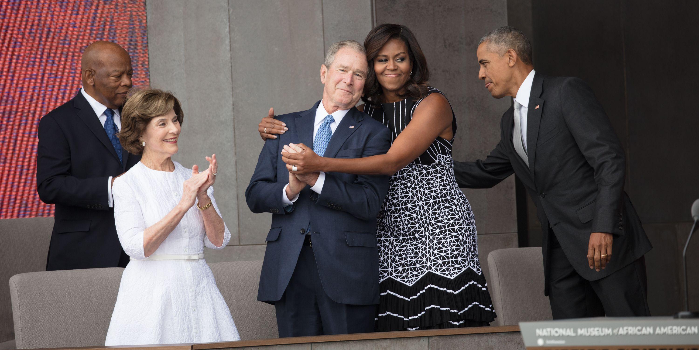 Obama & Bush At NMAAHC Opening
