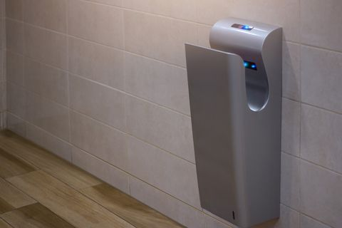 This picture will make you never want to use a 'hygienic' hand dryer again