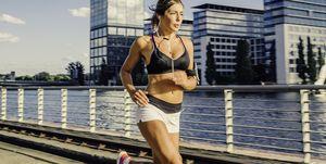 mujer, running, verano