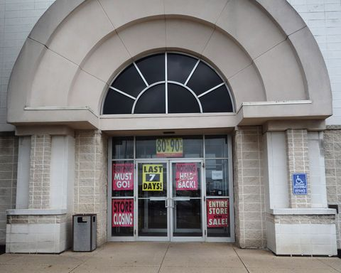 the entrance to the jcpenney at the columbia mall on july 24, 2017 in bloomsburg, pennsylvania  the jcpenney is having a store liquidation sale and plans to close july 31, 2017 abandoned by the big brands, deserted by the young, the american mall, once temples of the shopping, have become ghost towns, victims of the explosion of online shopping   afp photo  don emmert  to go with afp story by john biers, deserted, us shopping centers look for a future        photo credit should read don emmertafp via getty images