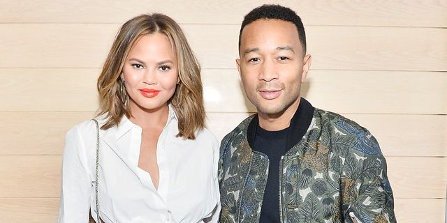 los angeles, ca   august 10  chrissy teigen and john legend attend intermix x alc on duty launch dinner with chrissy teigen at jon and vinnys on august 10, 2017 in los angeles, californi  photo by stefanie keenangetty images for intermix x alc