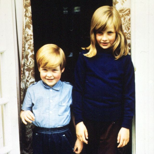 undated family file picture of lady diana spencer diana princess of wales with her brother charles, lord alhorp earl spencer in 1968   photo by pa images via getty images