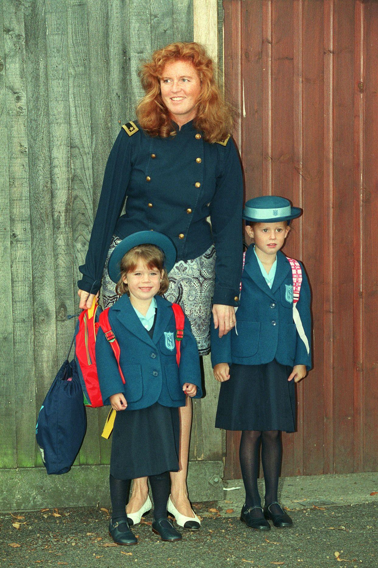 Fergie/Eugenie first day at school