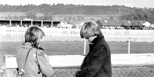 Camilla Parker-Bowles and Diana at Ludlow racecourse