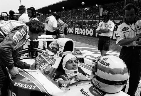 Ayrton Senna racing driver