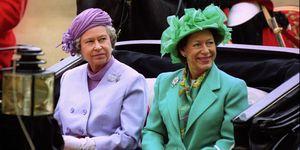 Royalty - Princess Margaret and Queen Elizabeth II - Horse Guards Parade, London