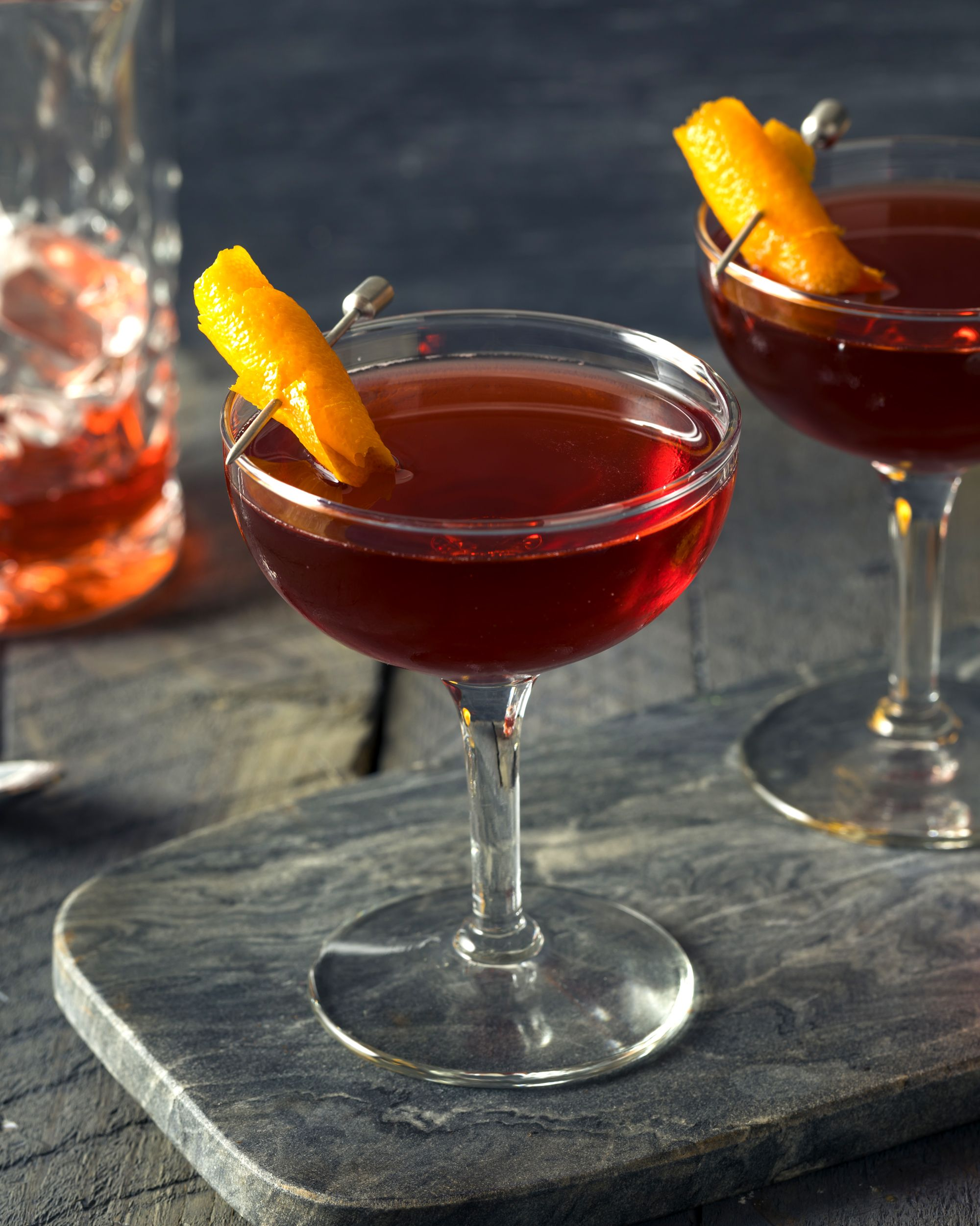 Homemade Red Boulevardier Cocktail