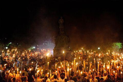Alt Right, Neo Nazis hold torch rally at UVA