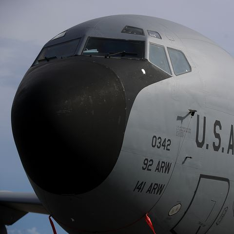 yigo, guam   august 17  a us air force boeing kc 135 stratotanker sits on the tarmac at andersen air force base on august 17, 2017 in yigo, guam the american territory of guam remains on high alert as a showdown between the us and north korea continues north korea has said that it is planning to launch four missiles near guam by the middle of august guam home to about 7,000 american troops and 160,000 residents  photo by justin sullivangetty images