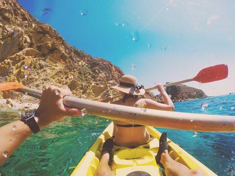 Kayak, Kayaking, Boating, Sea kayak, Boats and boating--Equipment and supplies, Boat, Recreation, Fun, Vehicle, Oar,