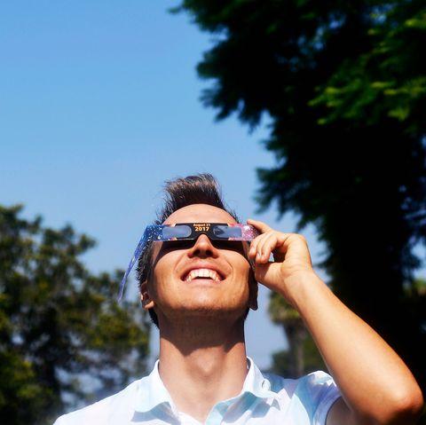 Eyewear, Glasses, Sky, Cool, Sunglasses, Summer, Tree, Vacation, Fun, Human,