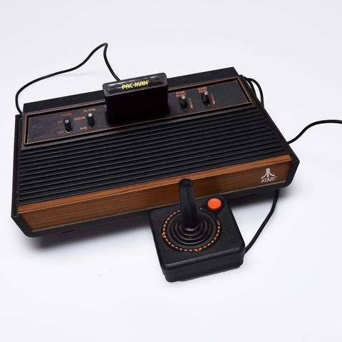 Washington, DC August 23 An Atari video game console and joystick, one of many iconic toys made available over the decades for the special parenting area, on August 23, 2017 in Washington, DC Photo by Bill Olearythe Washington Post via getty images