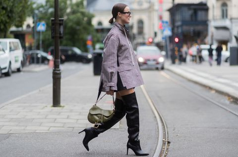 Street fashion, Photograph, Clothing, Fashion, Snapshot, Footwear, Knee, Coat, Outerwear, Ankle,